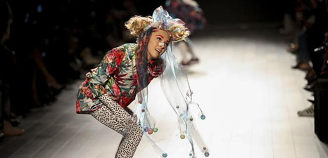 Creations of Desigual presented at New York Fashion Week