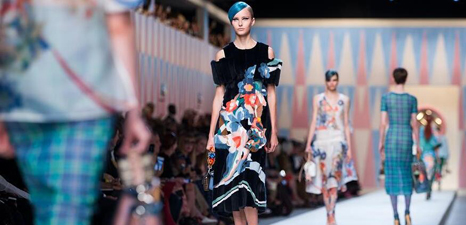 Show for Fendi held at Milan fashion week