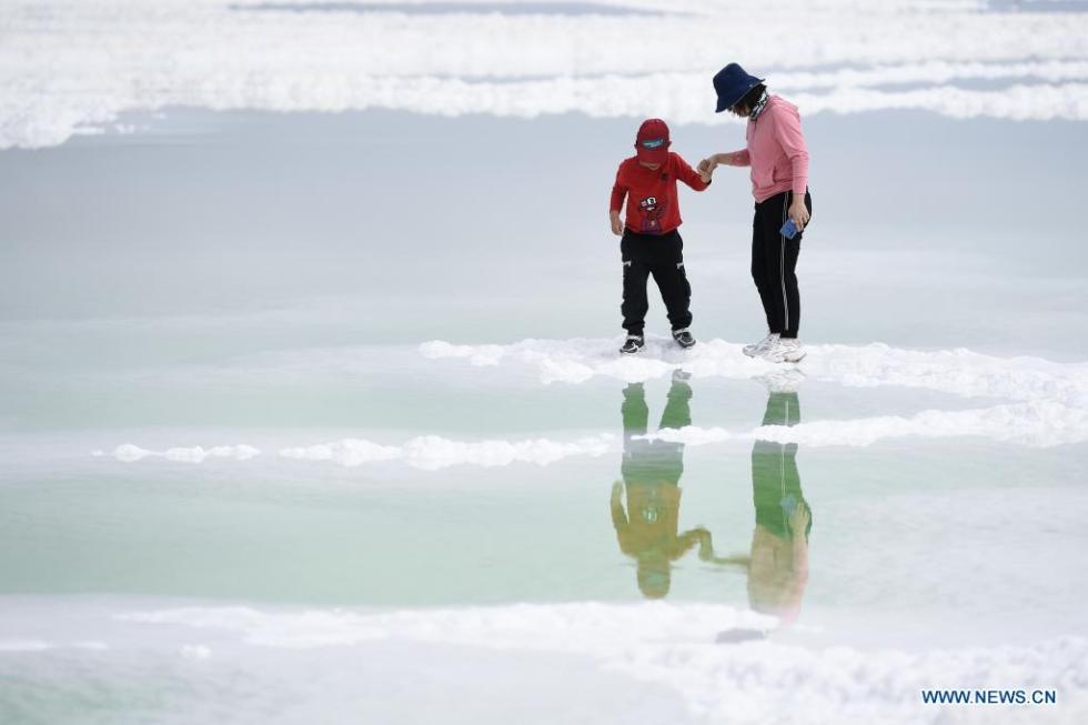 In pics: Qairhan Salt Lake in Qinghai