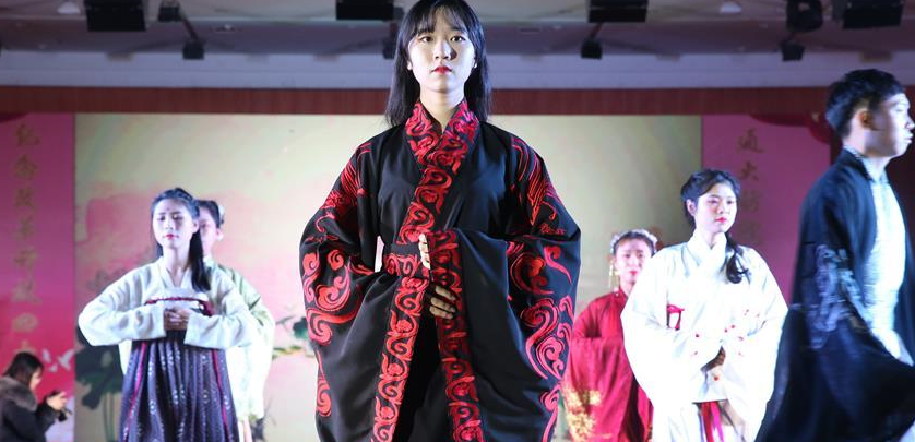 Fashion show held at Nantong University in China